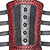 Tooled And Studded Bracer - Leather