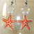 Starfish Earrings - Acrylic And Enamel On Canvas
