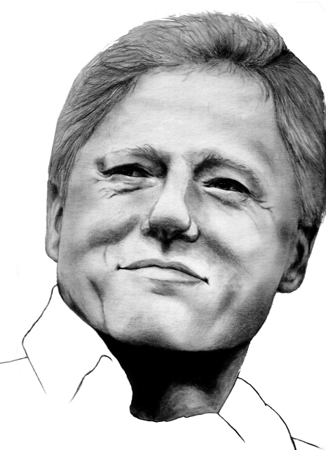 Portrait Of Bill Clinton